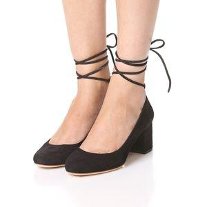 Loeffler Randall Clara Ankle Wrap Pump Black 8.5